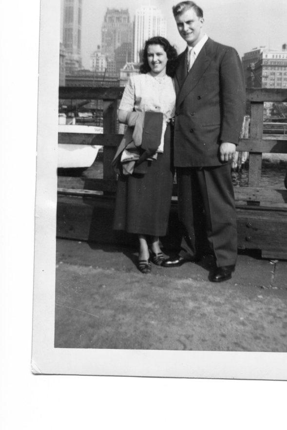 Ferd and Lura Jean Honeymoon NYC